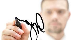 Relación entre la letra y la firma.