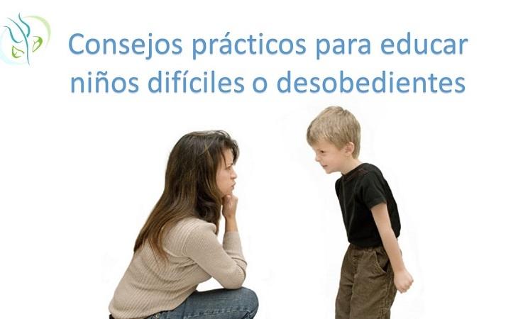 educar niños desobedientes