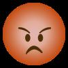 emoji enojado